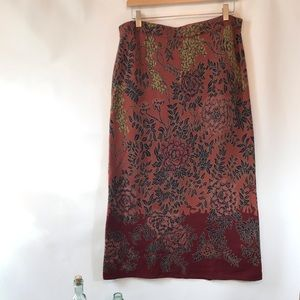 Peruvian Connection Pima Cotton Floral Skirt